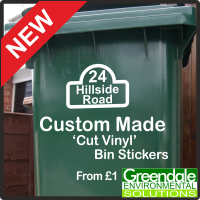 Greendale Bin Stickers