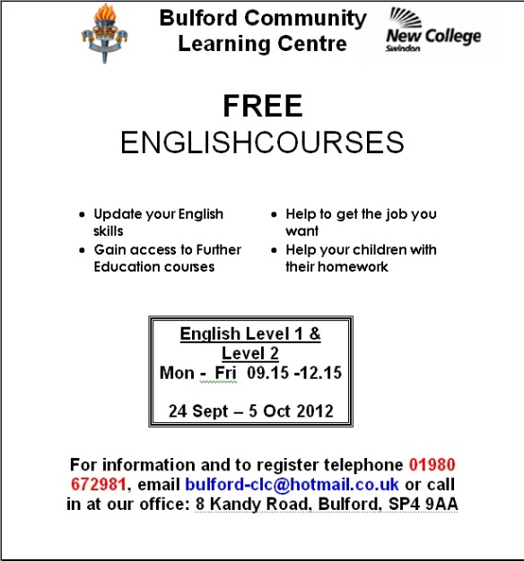 Bulford Community Learning Centre English