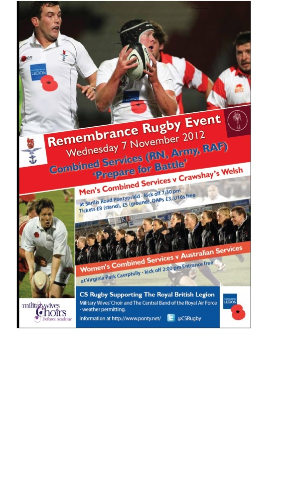 Remembrance Rugby