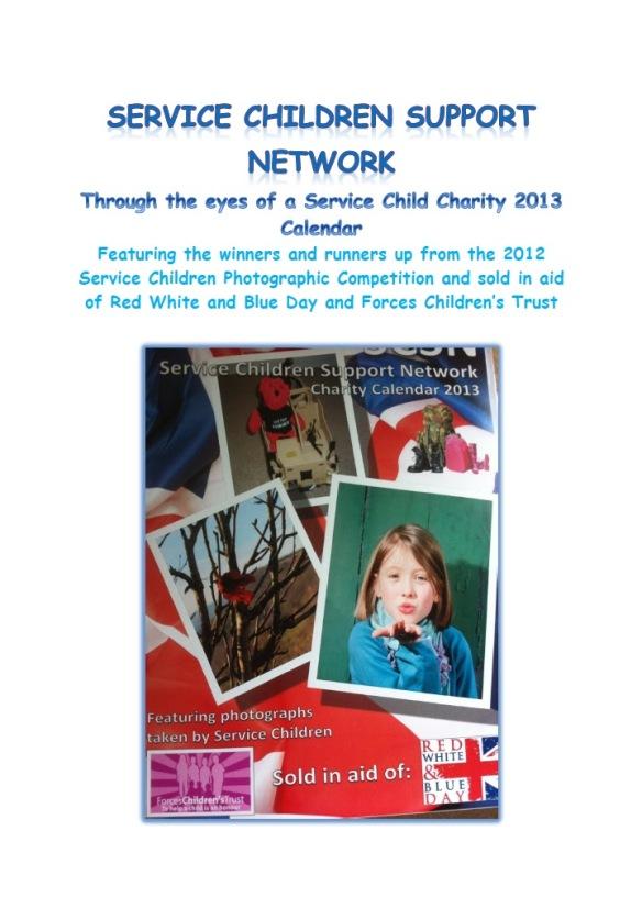 SCSN Charity Calendar 1
