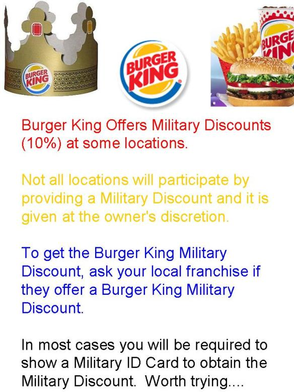 Burger King discount