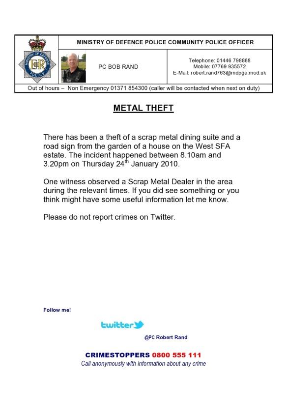 metal theft