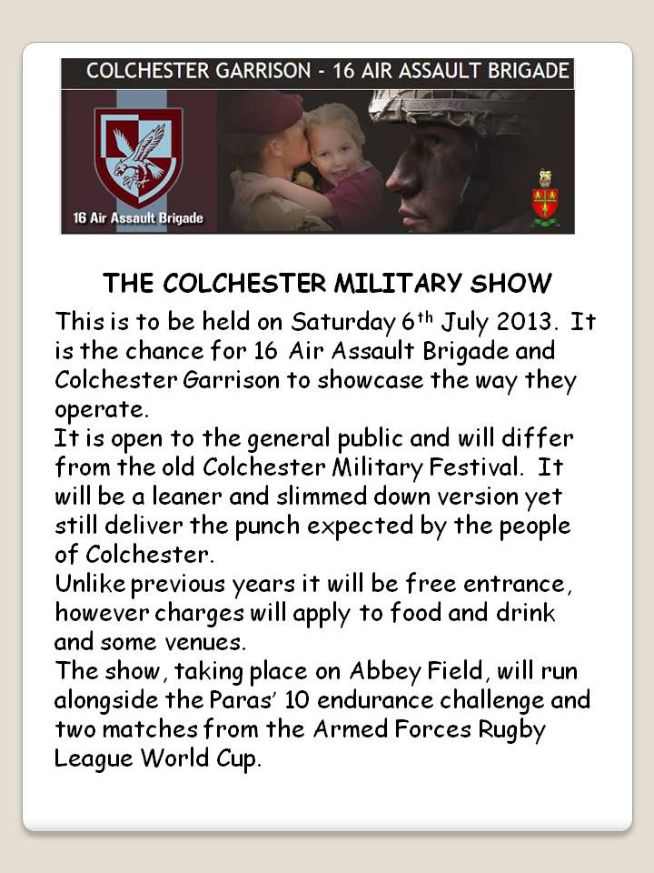 13 air assault colchester