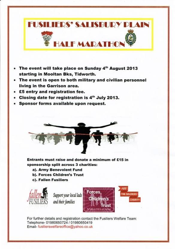 Fusiliers Half Marathon