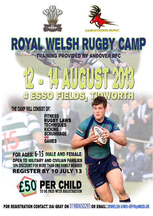 2RW Rugby Camp