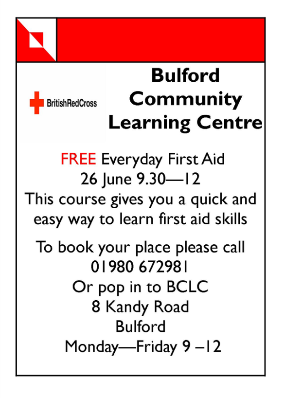 First Aid Course Bulford