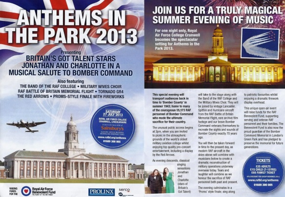 Anthems in the Park 27 July