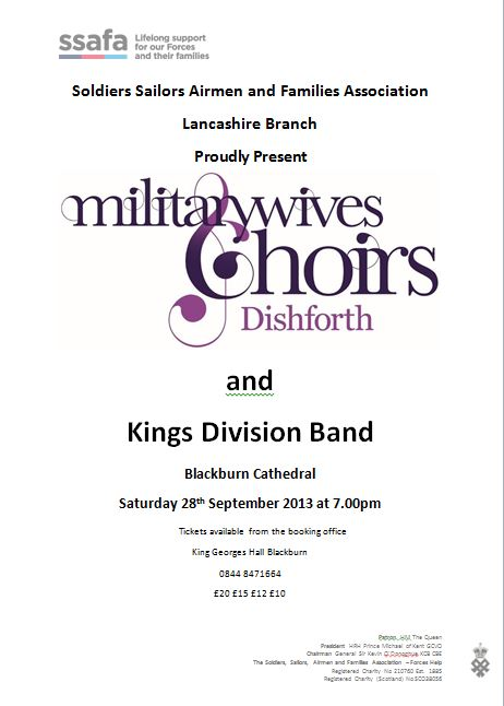 Mil Wife Choir and Kings Div Band ssafa