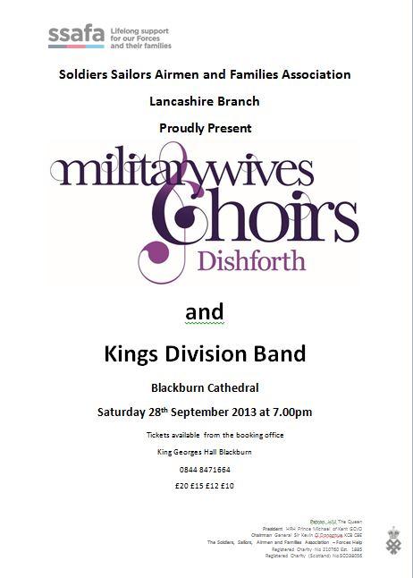 Mil Wife Choir and Kings Div Band ssafa