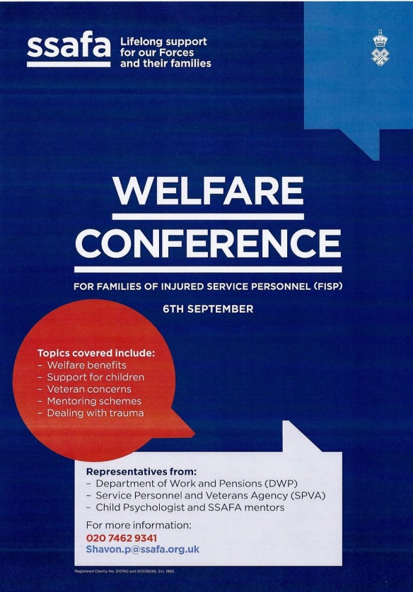 SSAFA welfare conf 6 Sept